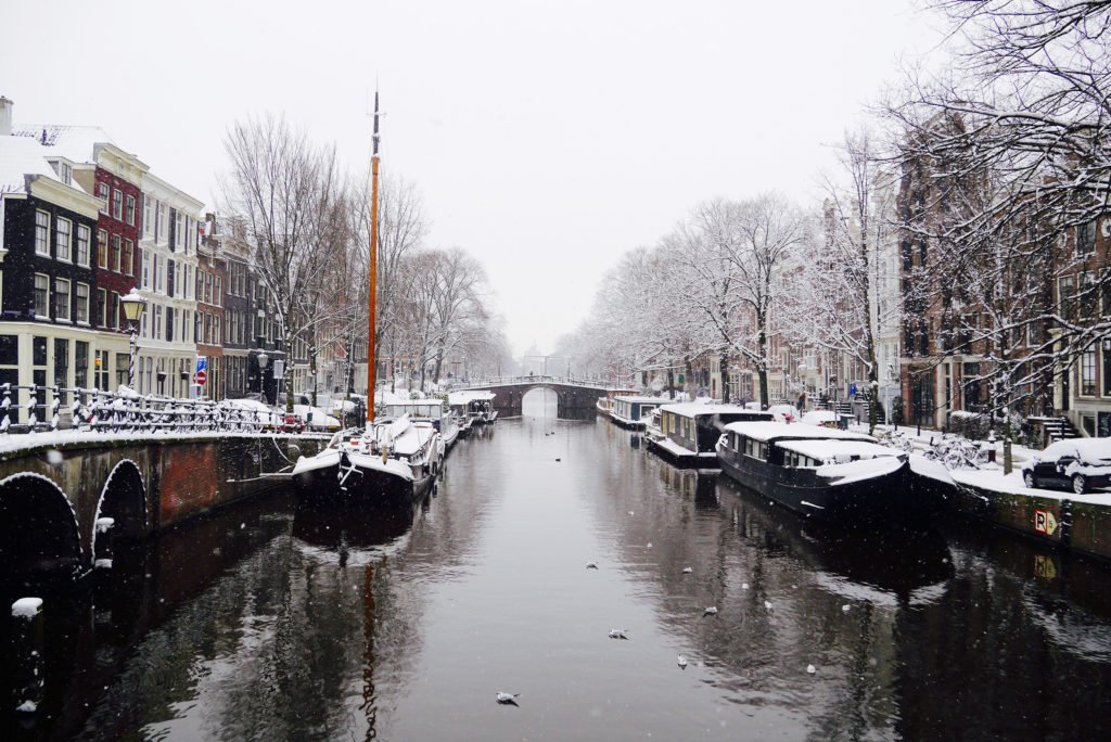 Snow on the canals