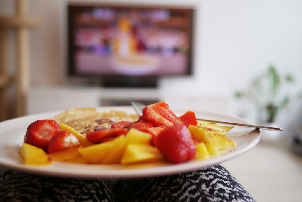 Eating in front of the TV