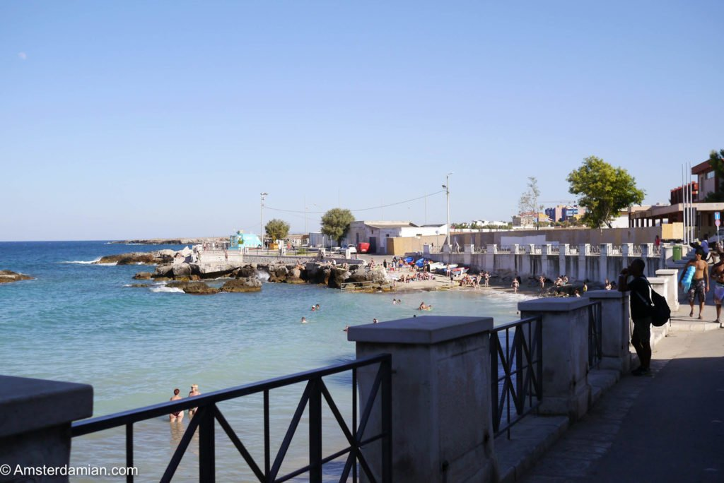 One of the few small beaches of Monopoli