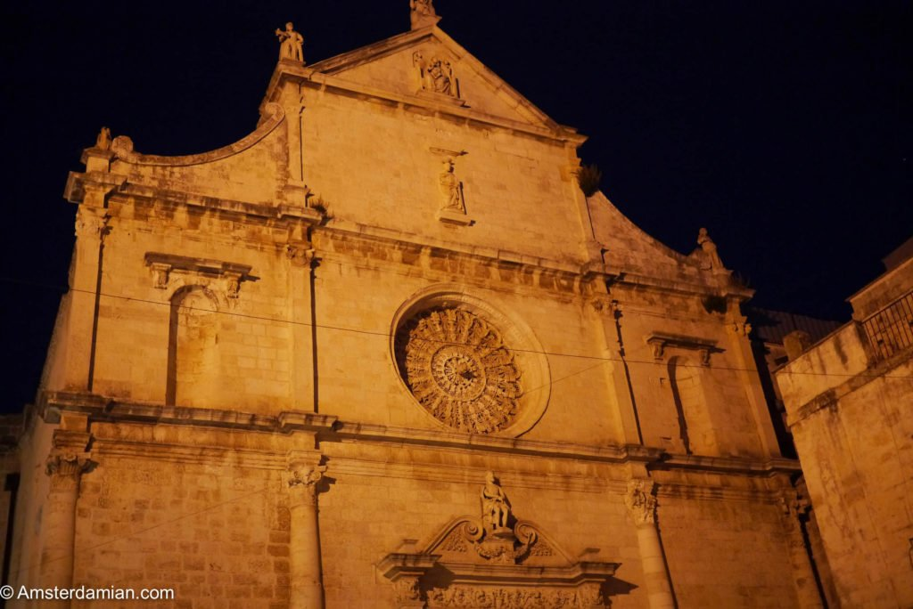 Monopoli Cathedral at night