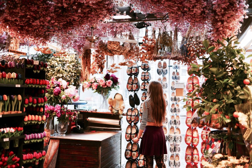Girl at the Flower Market