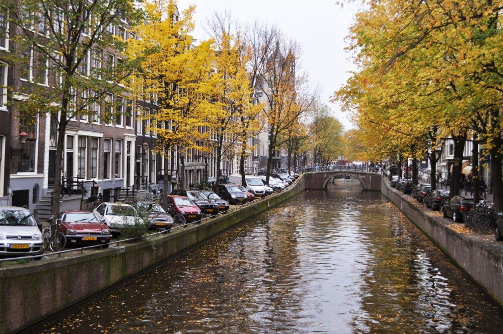 Canals of Amsterdam in November