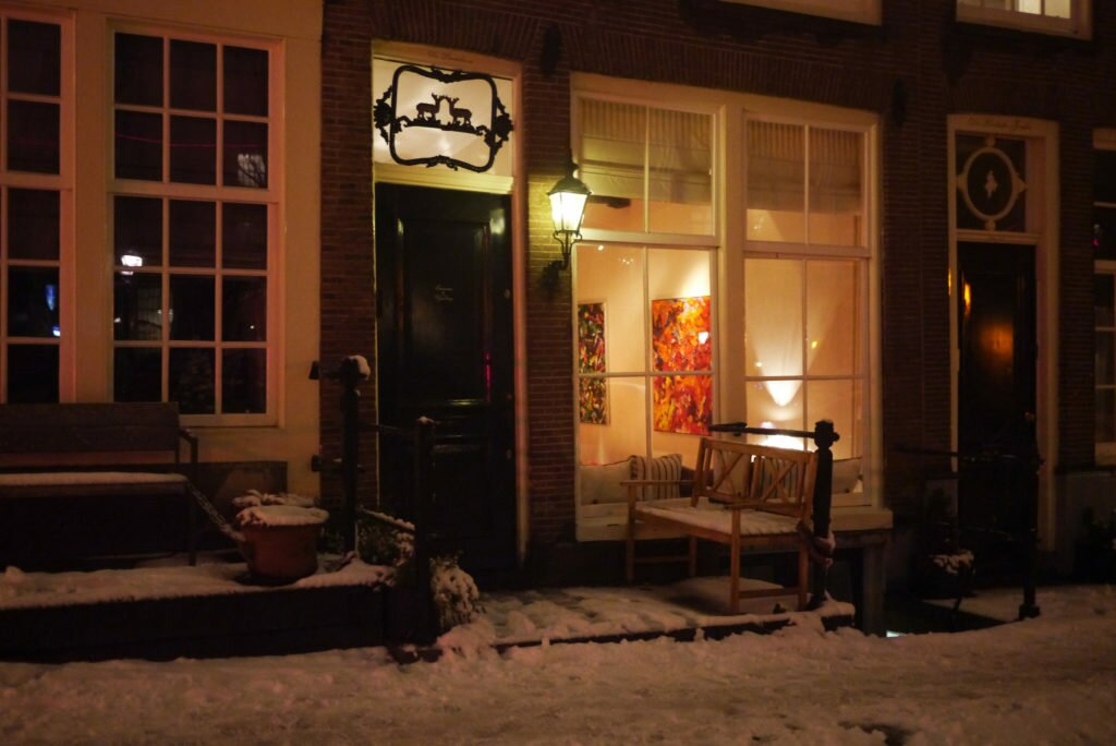 Snowy evening Amsterdam 03