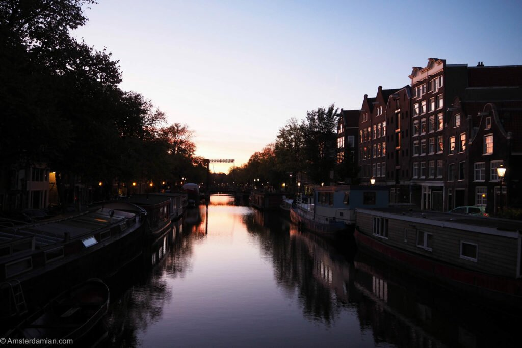 Sunrise in Amsterdam