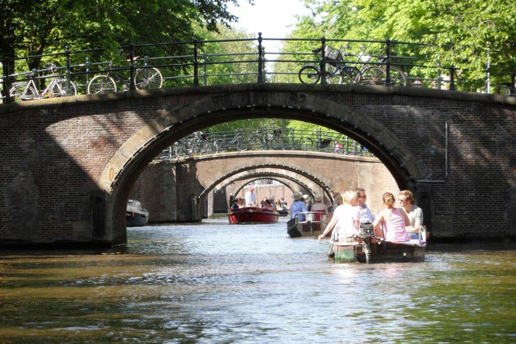 Boat ride in Amsterdam