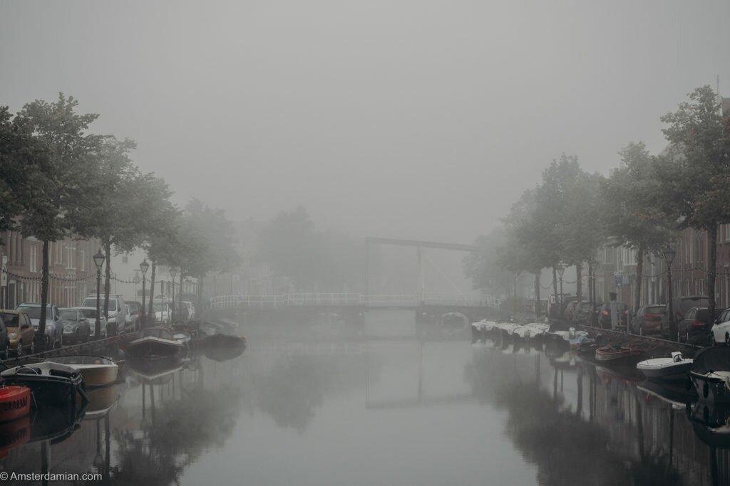 Misty summer morning Alkmaar 03