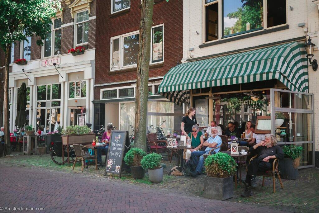 People relaxing in Deventer