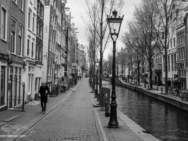 Life in lockdown: empty streets in Amsterdam