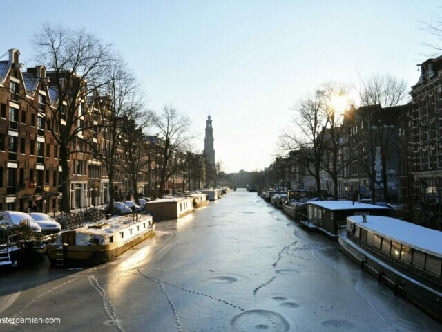 Waiting for the canals to freeze