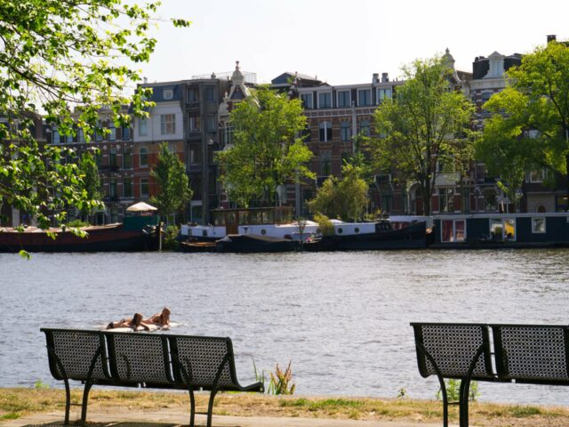 Swimming in the Amstel River