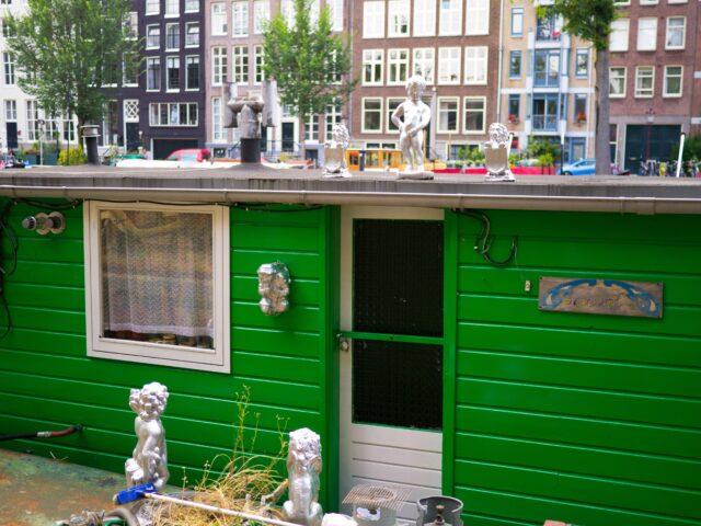 Manneken-Pis on a boat in Amsterdam