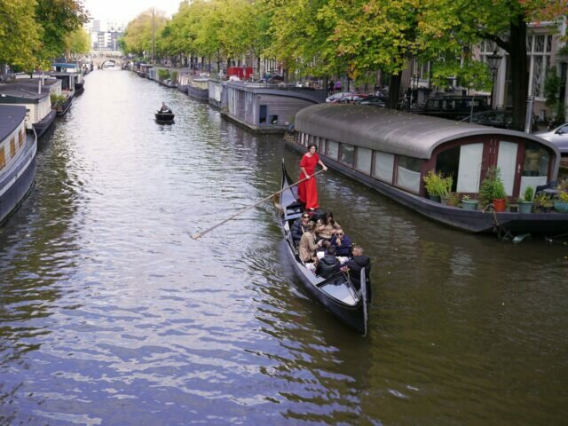 Gondola ride in Amsterdam