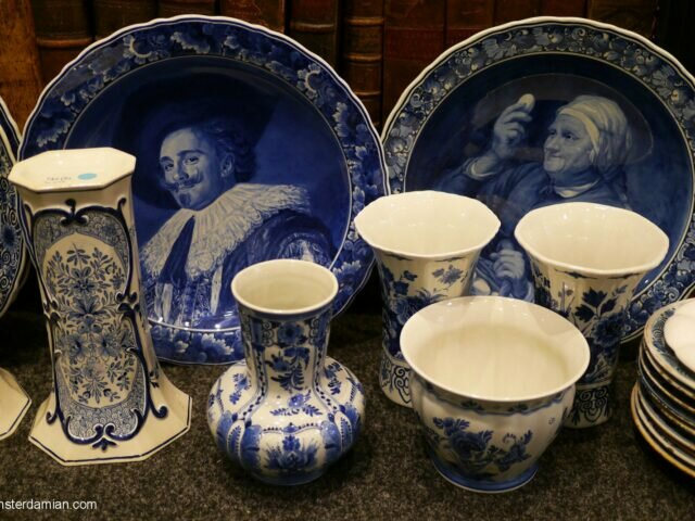 Found in Delft: antique ceramic shop