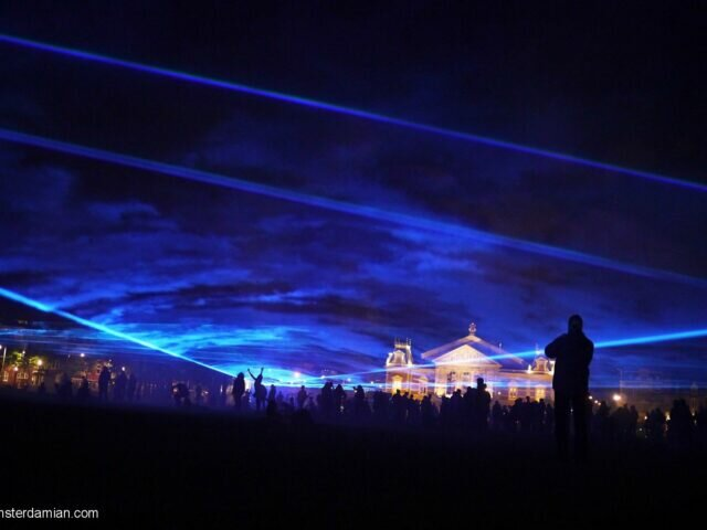 A sea of lasers flooding Museumplein