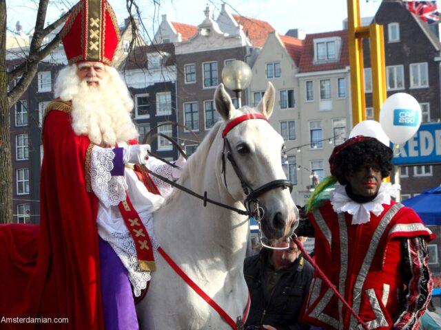 Sinterklaas (Saint Nicholas) is in Amsterdam!