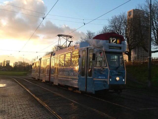 Christmas tram